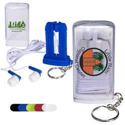 Earbuds In Case w/Key Ring